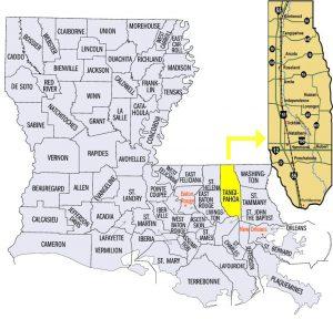 map of louisiana parishes and parish seats Parish Communities My Hammond My Ponchatoula map of louisiana parishes and parish seats
